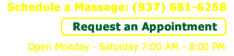 Schedule a Massage: 937-681-6258